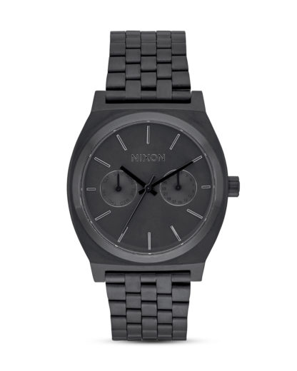 Quarzuhr Time Teller Deluxe A922-001 All Black NIXON schwarz 3608700702773