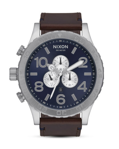 Chronograph 51-30 Leather A124-2301 Blue Sunray / Brown NIXON blau,braun,silber 3608700746647