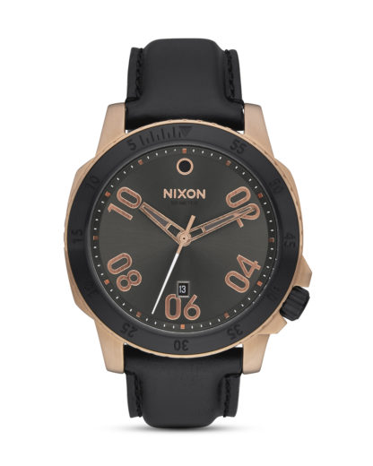 Quarzuhr Ranger Leather A508-2308 Rose Gold / Gunmetal Sunray NIXON roségold,schwarz 3608700747170