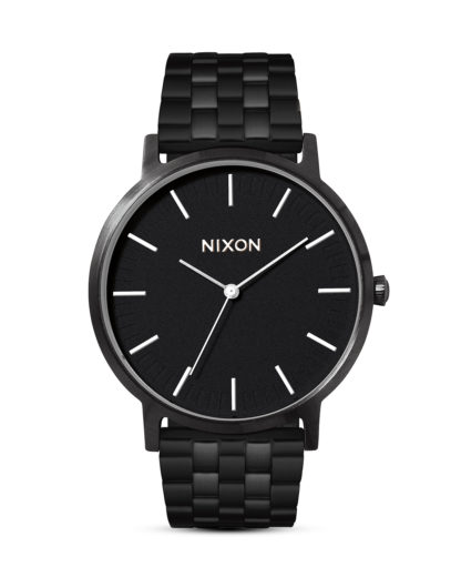 Quarzuhr Porter A1057-756 All Black / White  NIXON schwarz,weiß 3608700772219