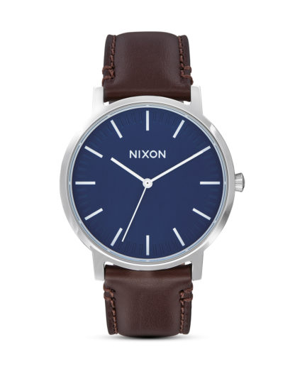 Quarzuhr Porter Leather A1058-879 Navy / Brown  NIXON blau,braun,silber 3608700772264