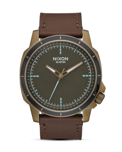 Quarzuhr Ranger Ops Leather A914-2373 Brass / Brown  NIXON braun,gold,schwarz 3608700772837