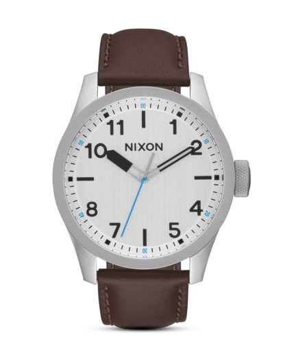 Quarzuhr Safari Leather A975-1113 Silver / Brown  NIXON braun,silber 3608700773254