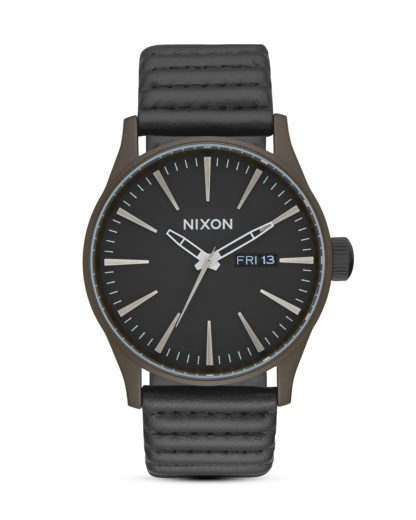 Quarzuhr Sentry Leather A105-2138 Bronze / Black NIXON braun,schwarz 3608700772172