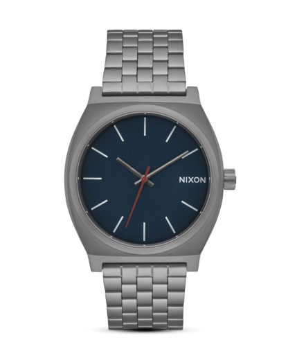 Quarzuhr Time Teller A045-2340 All Gunmetal NIXON blau,grau 3608700772097