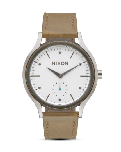 Quarzuhr Sala Leather A995-2364 White / Tan  NIXON braun,silber,weiß 3608700773681