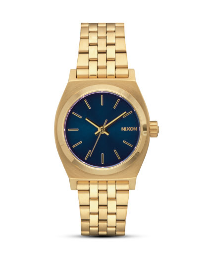 Quarzuhr Medium Time Teller A1130-1931-00 All Light Gold / Cobalt NIXON blau,gold 3608700819105