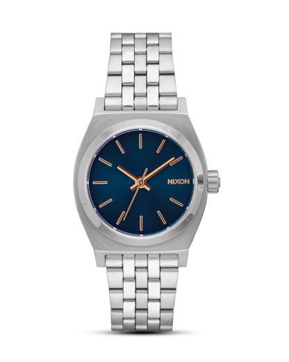 Quarzuhr Medium Time Teller A1130-2195-00 Navy/Rose Gold NIXON blau,gold,silber 3608700819129