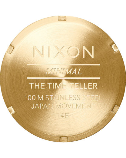 Quarzuhr Time Teller A045-508-00 Gold / White NIXON Gold 3608700818436