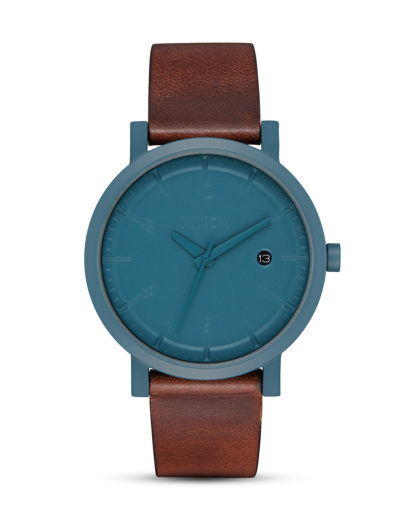 Quarzuhr Rollo 38 A984-2550 Slate Blue / Dark Brown NIXON blau,braun 3608700870953