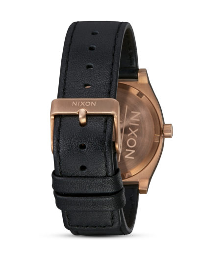 Quarzuhr Time Teller A045-1932 All Rose Gold / Black NIXON Damen,Herren Leder 3608700869629