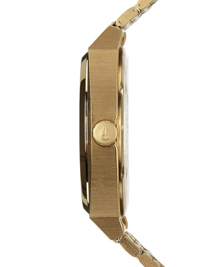 Quarzuhr Time Teller A045-2042 All Gold / Black Sunray NIXON Damen Edelstahl 3608700869636
