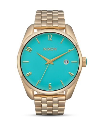Quarzuhr Bullet Light A418-2626 Gold / Turquoise NIXON gold,türkis 3608700870632