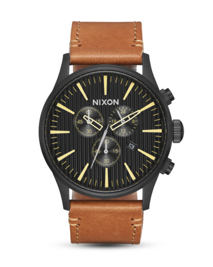 Chronograph Sentry Chrono A405-2664 Black / Stamped / Brown NIXON braun,schwarz 3608700209555