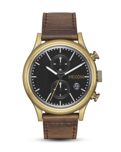 Chronograph Station Chrono A1163-2539 Brass / Black / Taupe NIXON braun,gold,schwarz 3608700209081