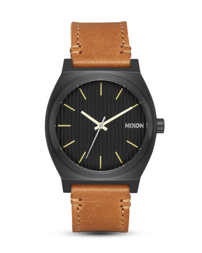 Quarzuhr Time Teller A045-2664 Black / Stamped / Brown NIXON braun,schwarz 3608700193557