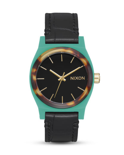 Quarzuhr Medium Time Teller A1172-2707 Green / Mix NIXON gold,schwarz,türkis 3608700209319