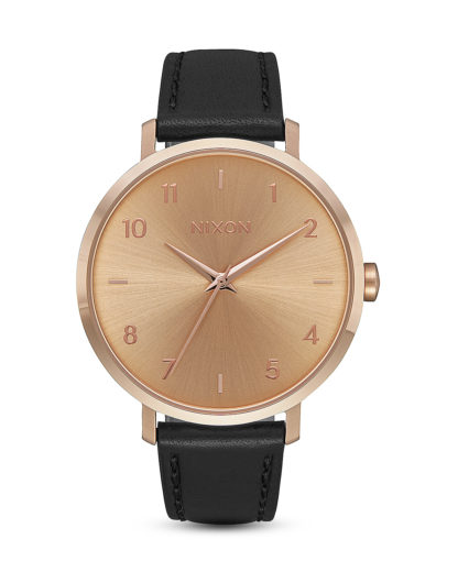 Quarzuhr Arrow Leather A1091-1098-00 Rose Gold / Black  NIXON roségold,schwarz 3608700231228