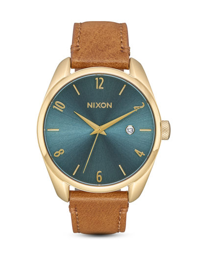 Quarzuhr Bullet Leather A473-2626-00 Light Gold / Turquoise  NIXON braun,gold,türkis 3608700231815