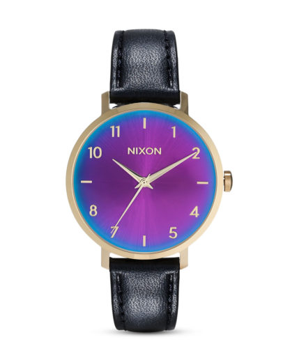 Quarzuhr Arrow Leather A1091-2766-00 Gold / Black / Rainbow  NIXON gold,mehrfarbig,schwarz 3608700231242