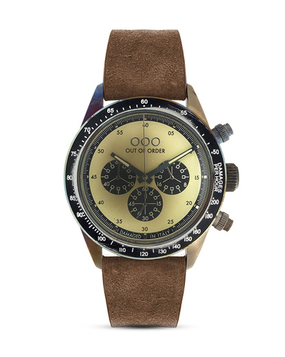 Chronograph 001-4.MS.CR OUT OF ORDER beige,braun,schwarz,silber 4250945523904
