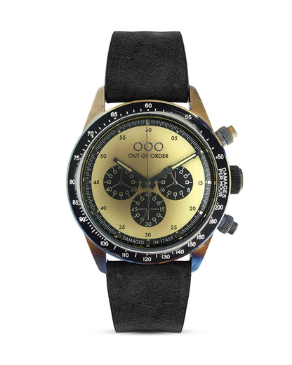 Chronograph 001-4.NE.CR OUT OF ORDER beige,schwarz,silber 4250945523928