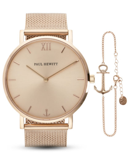 Set mit Quarzuhr & Armband Sailor Line PH-PM-1 PAUL HEWITT roségold 4251158734330