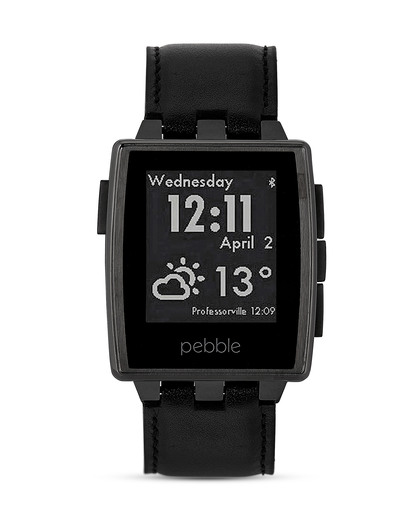 Smartwatch Steel 401BLR pebble schwarz 855906004245