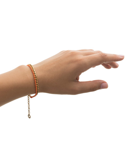 Armband Honestly Messing Pilgrim gold,orange  5707050046235