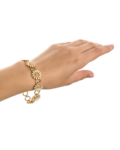 Armband Marguerite Messing Pilgrim gold,klar  5707050038827