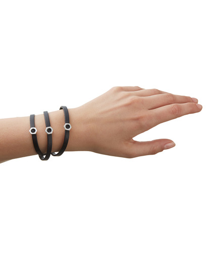 Armband Just Simple Messing Pilgrim schwarz,silber  5707050045436