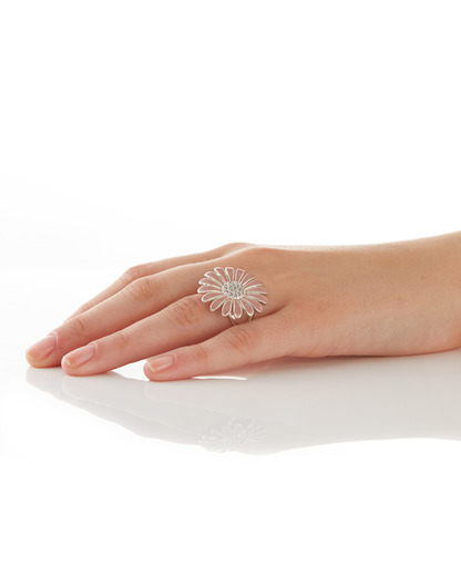 Ring Marguerite Messing Pilgrim rosa,silber  5707050043098