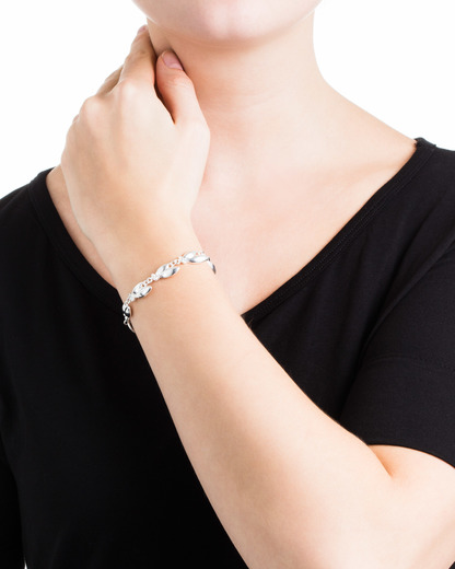 Armband Clarity Messing Pilgrim silber Kristall 5707050055800