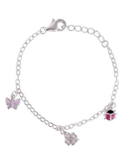 Armband 925 Sterling Silber Prinzessin Lillifee rosa,silber Zirkonia 4020689082414
