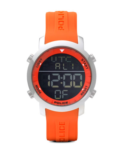 Digitaluhr Cyber P12898JS-02I POLICE orange,schwarz,silber 4895148619698