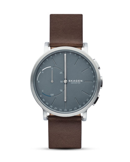Hybrid-Smartwatch Hagen Connected SKT1110 SKAGEN CONNECTED blau,braun,silber 4053858835436