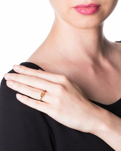 Ring Small Curb Messing vergoldet Sabrina Dehoff gold Kein Schmuckstein