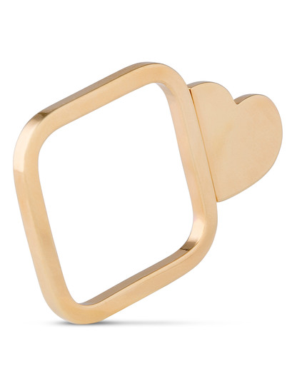 Ring Heart Messing Sabrina Dehoff gold Kein Schmuckstein