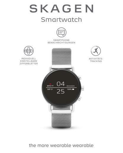 Smartwatch Falster 2 SKT5102 SKAGEN CONNECTED schwarz,silber 4013496047172