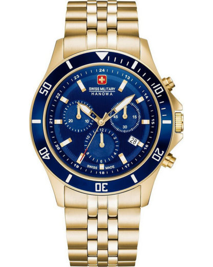 Swiss Military Hanowa Herren-Uhren Analog Quarz Swiss Military Hanowa gold 7620958000612