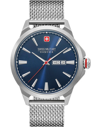 Swiss Military Hanowa Herren-Uhren Analog Quarz Swiss Military Hanowa silber 7620958001572