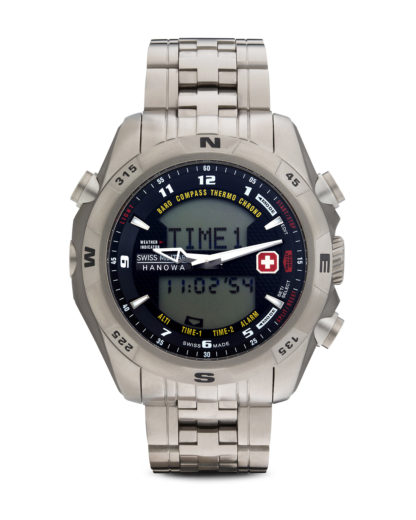 Digitaluhr Highlander 06-517515007 Swiss Military Hanowa schwarz,silber 7612657029193
