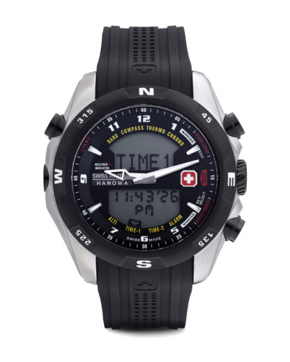 Digitaluhr Highlander 06-41740400707 Swiss Military Hanowa blau,schwarz,silber 7612657029179