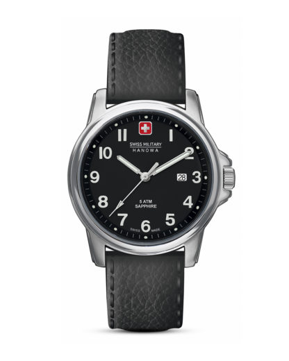 Quarzuhr Swiss Soldier Prime 06-423104007 Swiss Military Hanowa Schwarz 7612657083836