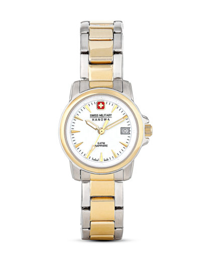 Quarzuhr SWISS RECRUIT LADY PRIME 06-7044155001 Swiss Military Hanowa gold,silber,weiß 7612657084390