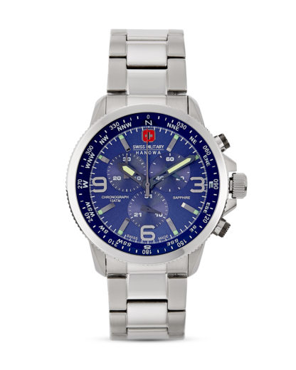Schweizer Chronograph Arrow 06-5250.04.003 Swiss Military Hanowa blau,silber 7612657088732