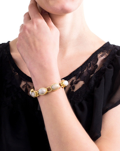 Armband Holly Metall Sence Copenhagen beige,gold  7640155215879
