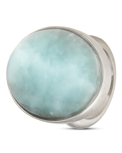 Ring Summer in the City versilbert mit Aquamarin SENCE Copenhagen