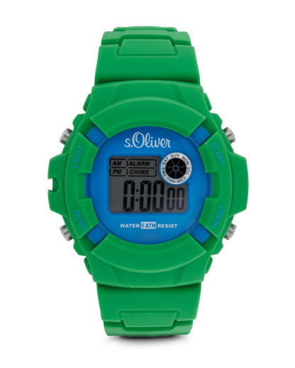 Digitaluhr Casual SO-2387-PQ s.Oliver blau,grün 4035608022457