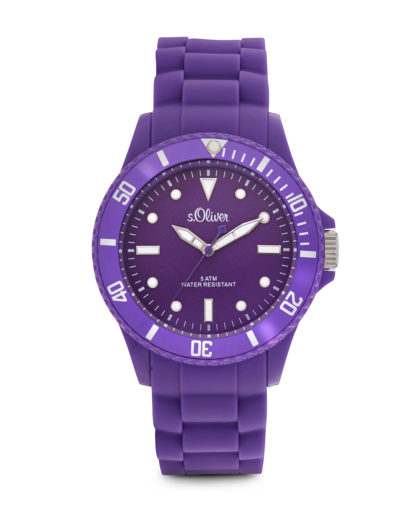 Quarzuhr Colors SO-2292-PQ s.Oliver violett 4035608021504